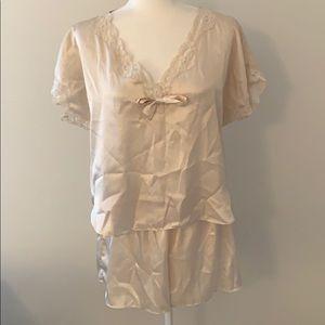 Vintage Victoria's Secret Gold Label Satin Pajamas
